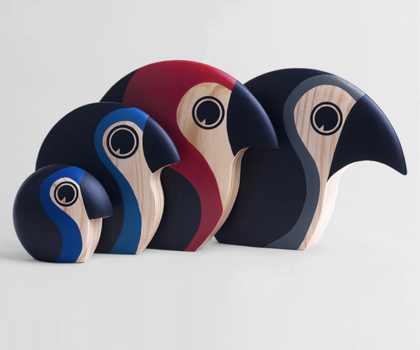 COLORFUL WOODEN BIRD: Discus